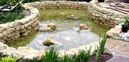 Садовые декоративные водоемы